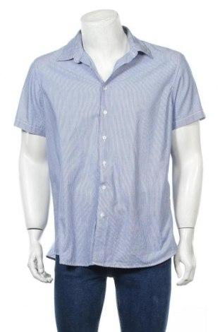 Мъжка риза Angelo Litrico, Размер XL, Цвят Син, 65% полиестер, 35% памук, Цена 4,73лв.