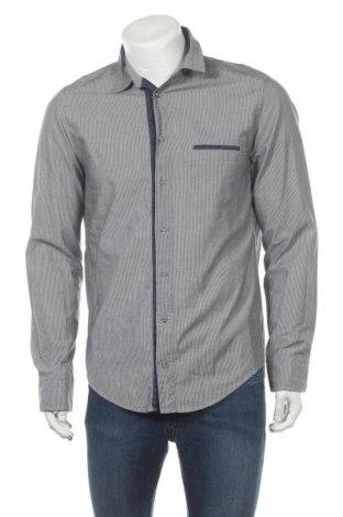 Мъжка риза Boss Orange, Размер M, Цвят Сив, Памук, Цена 55,50лв.