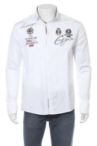 Мъжка риза Cipo & Baxx, Размер XL, Цвят Бял, 97% памук, 3% еластан, Цена 40,70лв.