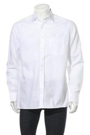 Мъжка риза Eterna, Размер L, Цвят Бял, Памук, Цена 36,30лв.