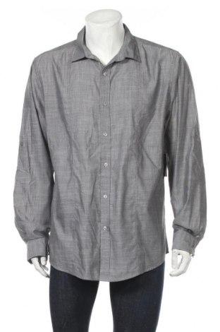 Мъжка риза INC International Concepts, Размер XL, Цвят Сив, 65% полиестер, 35% памук, Цена 20,48лв.