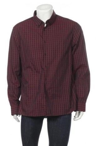 Мъжка риза Kenneth Cole, Размер XL, Цвят Червен, Памук, Цена 28,93лв.
