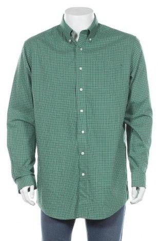 Мъжка риза L.L. Bean, Размер L, Цвят Зелен, Памук, Цена 15,44лв.