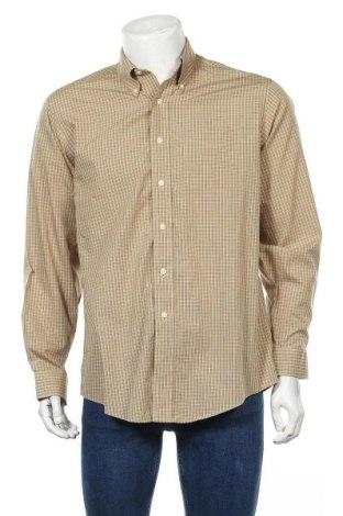 Мъжка риза L.L. Bean, Размер M, Цвят Бежов, Памук, Цена 9,45лв.