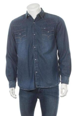 Мъжка риза Lois, Размер M, Цвят Син, Памук, Цена 31,60лв.