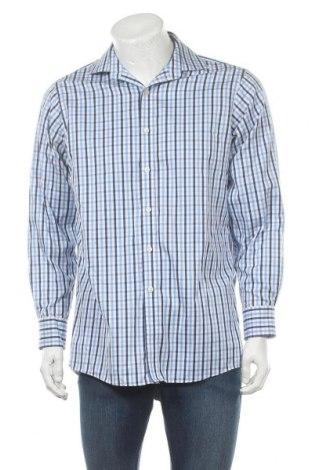 Мъжка риза MICHAEL Michael Kors, Размер M, Цвят Син, Цена 54,00лв.