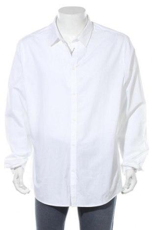 Мъжка риза Pier One, Размер 3XL, Цвят Бял, Памук, Цена 26,00лв.