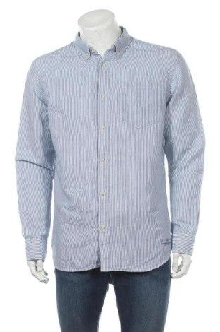 Мъжка риза Premium By Jack & Jones, Размер XL, Цвят Син, 60% лен, 40% памук, Цена 17,10лв.