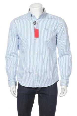 Ανδρικό πουκάμισο S.Oliver, Μέγεθος M, Χρώμα Μπλέ, 98% βαμβάκι, 2% ελαστάνη, Τιμή 10,04€