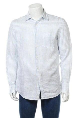 Мъжка риза United Colors Of Benetton, Размер M, Цвят Бял, 100% лен, Цена 50,25лв.