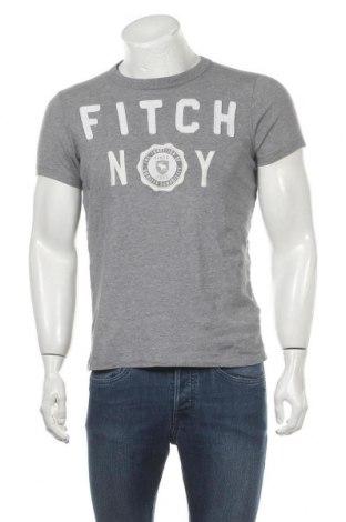 Мъжка тениска Abercrombie & Fitch, Размер M, Цвят Сив, Памук, Цена 20,53лв.