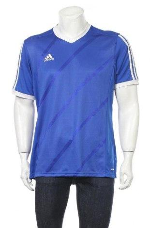 Ανδρικό t-shirt Adidas, Μέγεθος L, Χρώμα Μπλέ, Πολυεστέρας, Τιμή 10,49€