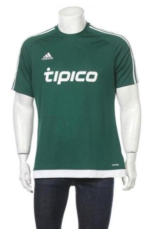 Ανδρικό t-shirt Adidas, Μέγεθος L, Χρώμα Πράσινο, Πολυεστέρας, Τιμή 9,35€