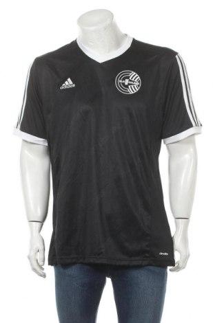Ανδρικό t-shirt Adidas, Μέγεθος XL, Χρώμα Μαύρο, Πολυεστέρας, Τιμή 12,15€