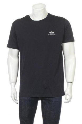 Мъжка тениска Alpha Industries, Размер XL, Цвят Син, Памук, Цена 57,67лв.
