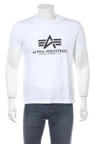 Мъжка тениска Alpha Industries, Размер S, Цвят Бял, Памук, Цена 50,37лв.