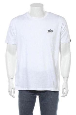 Мъжка тениска Alpha Industries, Размер XL, Цвят Бял, Памук, Цена 57,67лв.