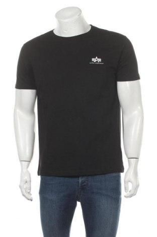 Мъжка тениска Alpha Industries, Размер M, Цвят Черен, Памук, Цена 54,02лв.