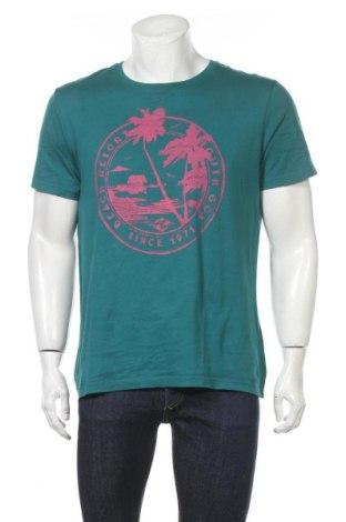 Мъжка тениска Angelo Litrico, Размер L, Цвят Зелен, Памук, Цена 14,96лв.