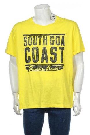 Мъжка тениска Angelo Litrico, Размер XXL, Цвят Жълт, Памук, Цена 18,90лв.