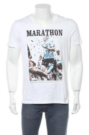 Мъжка тениска Angelo Litrico, Размер XL, Цвят Бял, Памук, Цена 7,56лв.