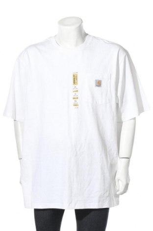 Мъжка тениска Carhartt, Размер XXL, Цвят Бял, Памук, Цена 41,48лв.