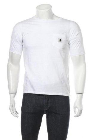 Мъжка тениска Carhartt, Размер S, Цвят Бял, 100% памук, Цена 30,02лв.