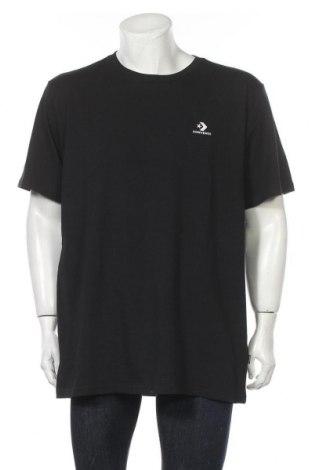 Мъжка тениска Converse, Размер XXL, Цвят Черен, 100% памук, Цена 38,35лв.