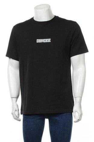 Мъжка тениска Converse, Размер L, Цвят Черен, 100% памук, Цена 44,85лв.