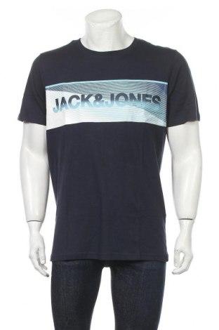 Ανδρικό t-shirt Core By Jack & Jones, Μέγεθος XL, Χρώμα Μπλέ, Βαμβάκι, Τιμή 6,03€