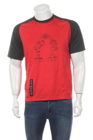 Мъжка тениска Fusion, Размер M, Цвят Червен, 100% полиестер, Цена 12,60лв.