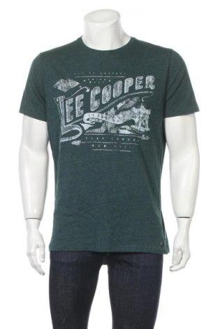 Мъжка тениска Lee Cooper, Размер XL, Цвят Зелен, Памук, полиестер, Цена 31,19лв.