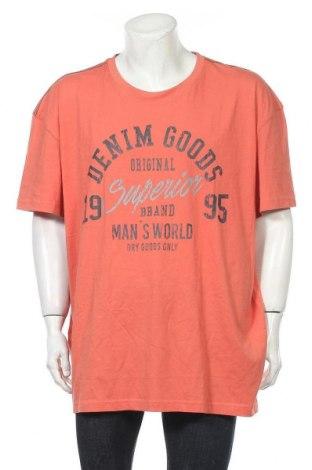 Мъжка тениска Man's World, Размер 4XL, Цвят Оранжев, Памук, Цена 27,00лв.