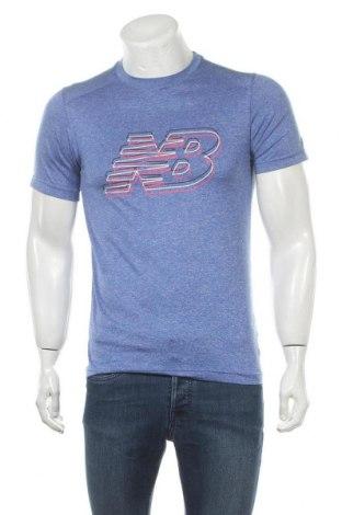 Мъжка тениска New Balance, Размер S, Цвят Син, Полиестер, Цена 20,58лв.