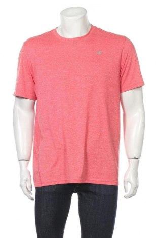 Мъжка тениска New Balance, Размер L, Цвят Розов, Полиестер, Цена 21,32лв.