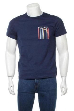 Ανδρικό t-shirt S.Oliver, Μέγεθος S, Χρώμα Μπλέ, Βαμβάκι, Τιμή 16,24€
