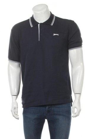 Мъжка тениска Slazenger, Размер M, Цвят Син, 65% полиестер, 35% памук, Цена 14,40лв.