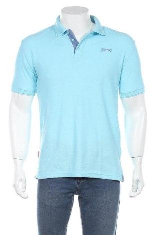 Мъжка тениска Slazenger, Размер M, Цвят Син, 65% полиестер, 35% памук, Цена 28,56лв.
