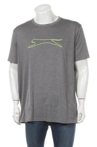 Мъжка тениска Slazenger, Размер XXL, Цвят Сив, 95% полиестер, 5% еластан, Цена 13,39лв.