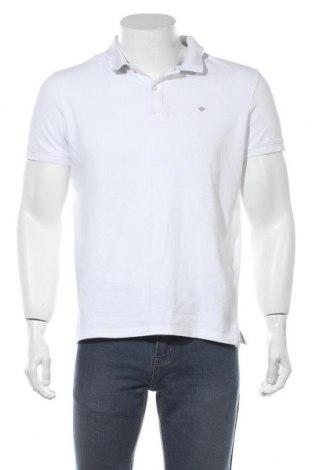 Мъжка тениска Tom Tailor, Размер L, Цвят Бял, Памук, Цена 19,95лв.