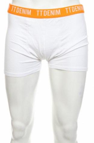 Ανδρικά μποξεράκια Tom Tailor, Μέγεθος XL, Χρώμα Λευκό, 95% βαμβάκι, 5% ελαστάνη, Τιμή 11,21€