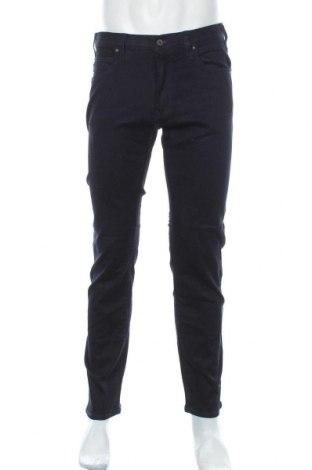 Мъжки дънки Armani Jeans, Размер M, Цвят Син, 99% памук, 1% еластан, Цена 220,35лв.