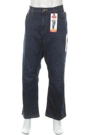 Мъжки дънки Wrangler, Размер XL, Цвят Син, 99% памук, 1% еластан, Цена 88,78лв.