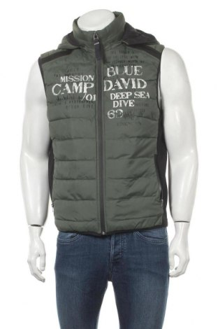 Мъжки елек Camp David, Размер S, Цвят Зелен, Полиамид, Цена 52,32лв.
