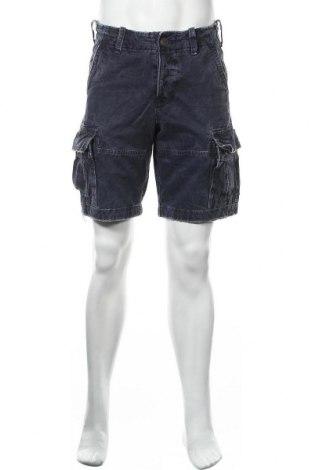 Мъжки къс панталон Abercrombie & Fitch, Размер S, Цвят Син, Памук, Цена 39,69лв.