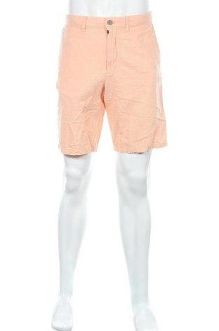 Ανδρικό κοντό παντελόνι Banana Republic, Μέγεθος L, Χρώμα Πορτοκαλί, 55% λινό, 45% βαμβάκι, Τιμή 21,59€
