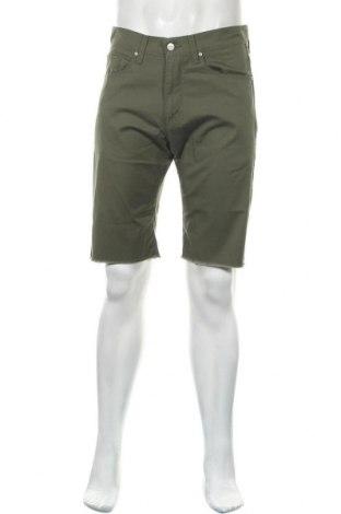 Мъжки къс панталон Carhartt, Размер M, Цвят Зелен, 97% памук, 3% еластан, Цена 39,90лв.