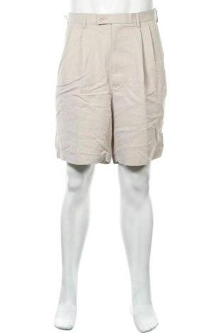 Мъжки къс панталон Haggar, Размер L, Цвят Бежов, 56% вискоза, 44% полиестер, Цена 3,00лв.