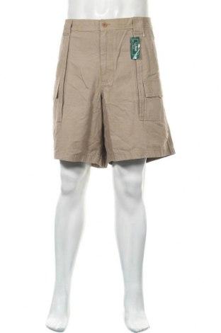 Мъжки къс панталон L.L. Bean, Размер XXL, Цвят Бежов, Памук, Цена 30,45лв.