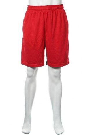 Мъжки къс панталон Reebok, Размер L, Цвят Червен, Полиестер, Цена 23,10лв.